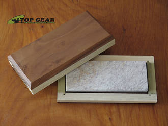 Dan's Soft Arkansas Whetstone with Wooden Box, Coarse/Medium - AC199