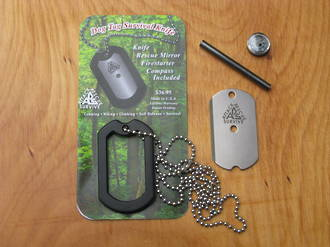 Dog Tag Survival Knife Set - 15913