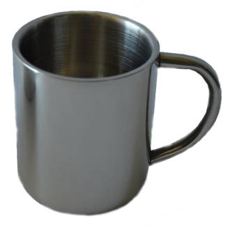 Domex Double Wall Stainless Steel Mug, 350 ml - DOMC010