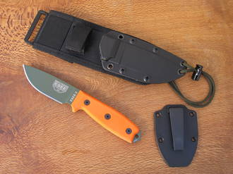 Esee 3 Knife with Molle Sheath System, Orange Handle - ESEE-3P-MB-OD