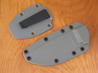 Esee Molded Sheath for Esee 3 Knife with Boot Clip - Coyote, Green, Black or Desert Tan