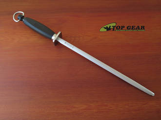 """Egginton 12"""" Professional Sharpening Steel with Stainless Steel Guard, #3 Cut Fine - 203SG123"""