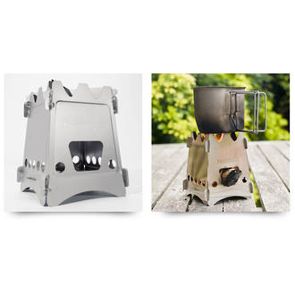 Emberlit Original Wooden Camp Stove, Stainless Steel - EL01