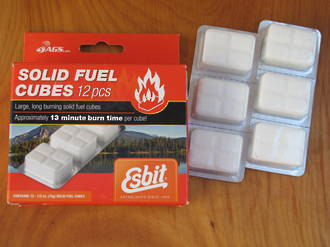 Esbit Hexamine Solid Fuel Cubes; 12 Pieces - SF12x14
