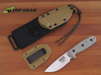 Esee 3 Knife with Molle Sheath System with Beadsblast Finish - ESEE-3P-UC-MB