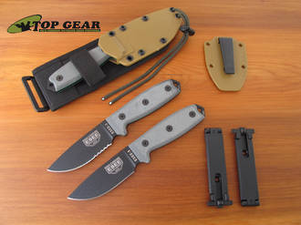 Esee 3 Knife with Molle Sheath System - Plain or Serrated Edge