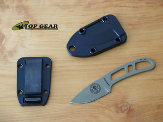 Esee Candiru Fixed Blade Neck Knife with Molded Sheath and Clip Plate - CAN-DE