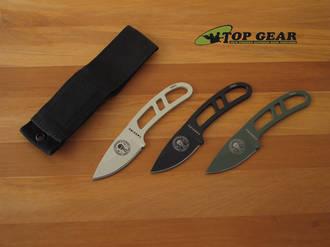 Esee Candiru Knife with Nylon Belt Sheath – Black, Desert Tan or Olive