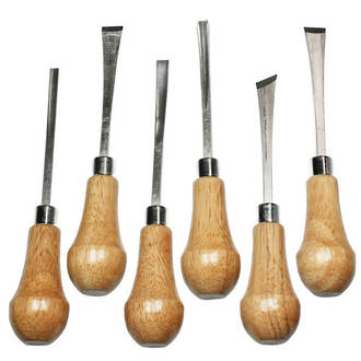 Excel Palm Style Deluxe Carving Tool Set, 6-Piece - 56010