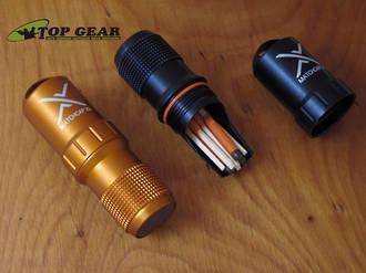 Exotac Survival Matchcap XL and Striker - Black or Orange