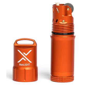 Exotac titanLight Refillable Waterproof Lighter, Orange - 005500-ORG
