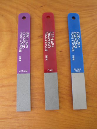 EZE-Lap Diamond Sharpener Pak with 3 Hones - LPAL