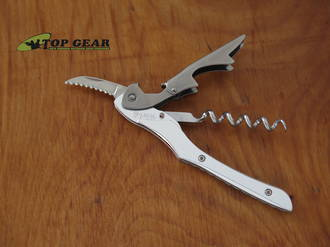 Farfalli Light Metal Waiter Corkscrew Knife, Stainless Steel - FFL002