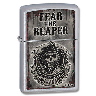 Zippo Fear the Reaper Windproof Lighter, Satin Chrome - 28502