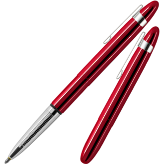 Fisher Space Pen Bullet Pen with Stainless Steel Clip, Red Cherry - 400RCCL