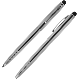 Fisher Space Pen Cap-O-Matic Pen with Stylus - Chrome SM4C/S