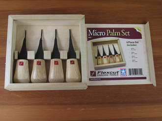 Flexcut Micro Palm Tool Carving Set with 4 Tools - FR804