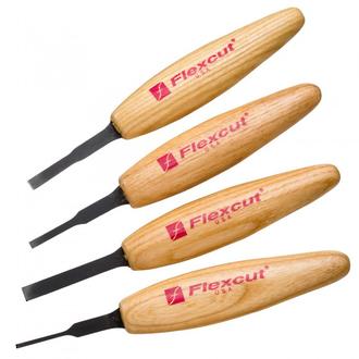 Flexcut Micro Tool Chisel Set, 4-Piece - MT100