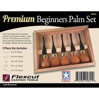 Flexcut Premium Beginners 5-Piece Palm Set - FRP310