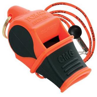 Fox 40 Sonik Blast CMG Pealess Safety Whistle, Orange - 9709203-3308
