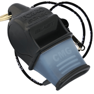 Fox 40 Sonik Blast CMG Pealess Safety Whistle, Black - 9203-0008