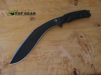 Fox Extreme Tactical Kukri Knife, N690 Stainless Steel, Black Forprener Handle- FX-9CM04 T
