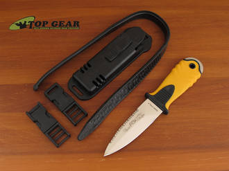 Fox Tekno Sub Stainless Steel Dive Knife, Yellow Handle - 30231