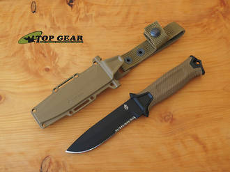 Gerber Strongarm Fixed Blade Tactical Knife, Coyote Brown - 30-001059