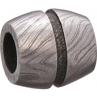 Grindworx Damascus Steel Bead Bisect Barrel - 02191