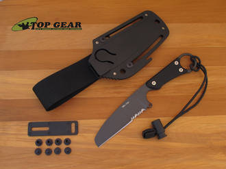 HPA SMJ Military Rescue Knife with Black Handle - 10638