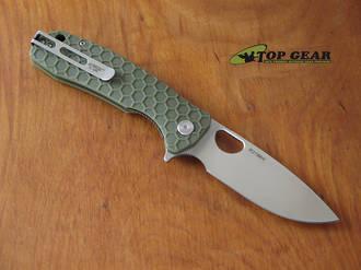 Honey Badger Flipper Pocket Knife, Large, Green - HB1003