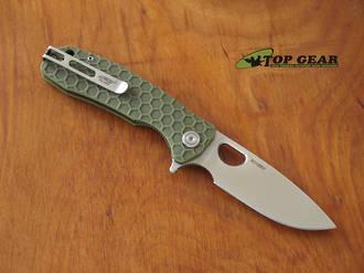 Honey Badger Flipper Pocket Knife, Medium, Green - HB1013