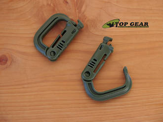 "ITW Nexus Grimloc 1"" Locking Molle Carabiner Attachment Device - Canadian Average Green 41CAG"