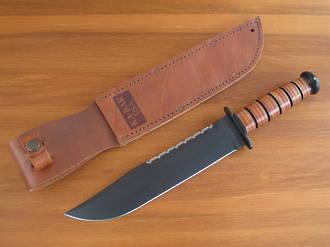 Ka-Bar Big Brother Utility Knife with Leather Handle - 2217