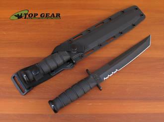 Ka-Bar Tanto Tactical Combat Knife Black - 1245