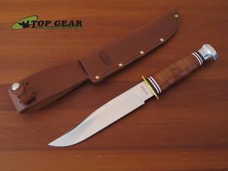 Ka-Bar Bowie Knife with Leather Handle - 1236