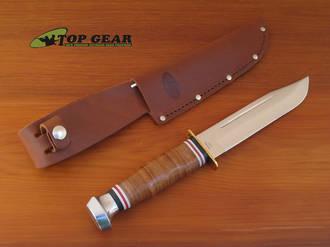 Ka-Bar Marine Hunter Knife with Leather Handle - 1235