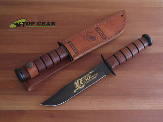 Ka-Bar US Marine Corps 50th Anniversary Korean War Commemorative Knife - 9106