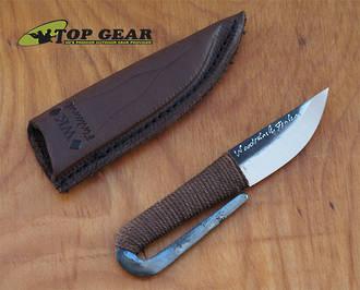 Kellam Fixed Blade Pocket Knife, High Carbon Steel - HM10