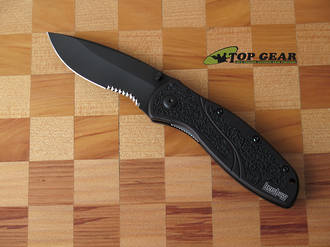 Kershaw Blur Assisted Opening Knife, Semi-Serrated - 1670BLKST