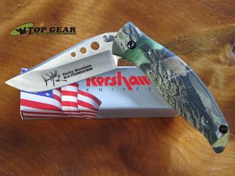 Kershaw Ken Onion Whirlwind Knife - Rocky Mountain Elk Foundation 1560RMEF