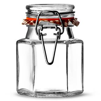 Kilner Hexagonal Cliptop Spice Jar, 90 ml - 0025.488