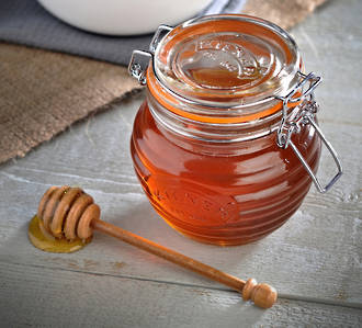 Kilner Honey Pot with Beechwood Dipper, 400 ml - 0025.499V