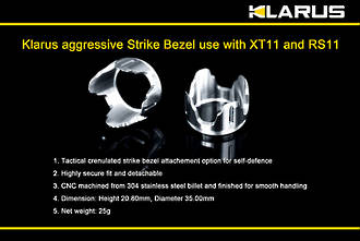 Klarus Aggressive Strike Bezel for XT11 and RS11 Tactical Torch - 400516