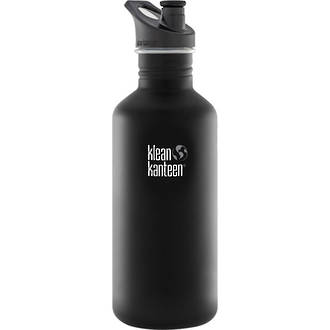 Klean Kanteen Classic Stainless Steel Bottle with Sports Cap - 1.2L, 40 oz. Shale Black