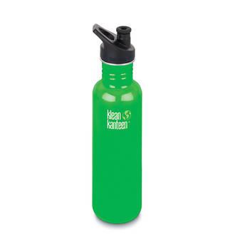 Klean Kanteen Classic Stainless Steel Bottle with Sports Cap 3.0- 27 Oz-800 ml Organic Garden