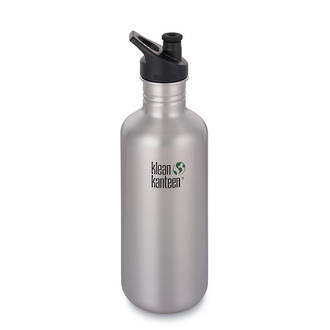 Klean Kanteen Classic Stainless Steel Bottle with Sports Cap - 1.2L Brushed Stainless-40 Oz – 1182 ml