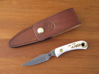 Knives of Alaska Cub Bear Skinning / Caping Knife with Staghorn Handle - 00007FG