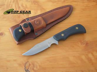 Knives of Alaska Pronghorn Hunting Knife w Suregrip Handle, Black - 160 FG Black