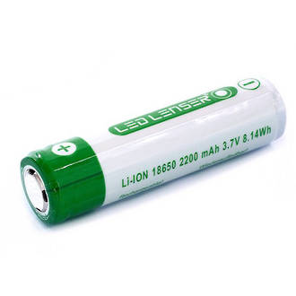 LED Lenser Lithium-Ion Rechargeable ICR18650 Battery for MT10, MH10, H8R, F1R, P7R and M7R - 501001